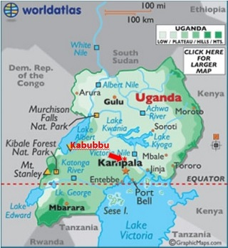 Uganda Map Kabubbu
