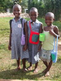 Thanks to our skilled volunteers – some at home, and some travelling to Kabubbu to teach crafts – these happy girls are feeling very grown up.