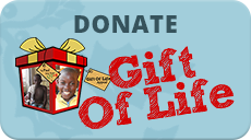 Gift of Life Donate Online button